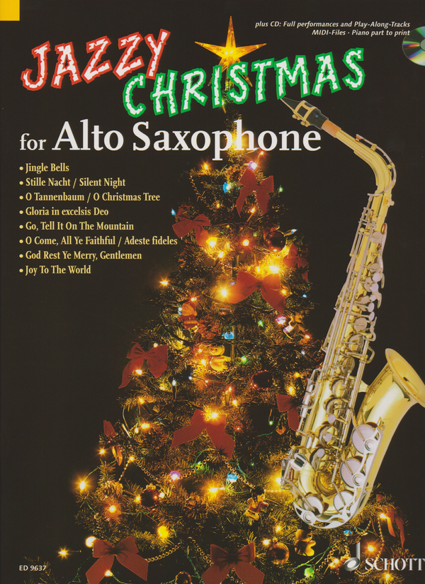 Jazzy Christmas for Alto Saxophone + CD