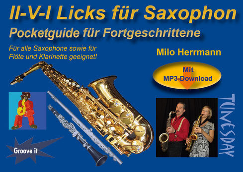 II-V-I Licks für Saxophon Pocketguide